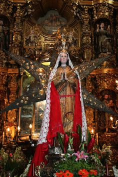 """Virgin of Ocotlán: Juan Diego (aka Juan Diego Bernardino) The Blessed Virgin Mary led Juan Diego down the steep hill as night began to fall. At the bottom was a pine grove with a spring of water, that still exists today. The Blessed Virgin Mary told Juan Diego that whoever drank the smallest drop would be restored to perfect health. She then told him that he would find an image of her in the pine grove where they were standing, a """"true portrait of her perfections and clemencies..."""