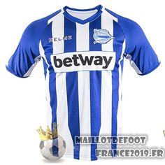 d448e69b5e3 Maillot De Foot Kelme Domicile Maillots Alavés 18-19 Bleu