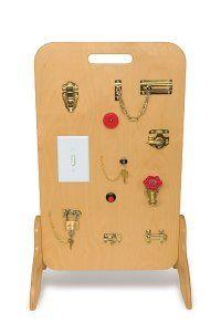 Wooden Locks & Latches Activity Board. DIY