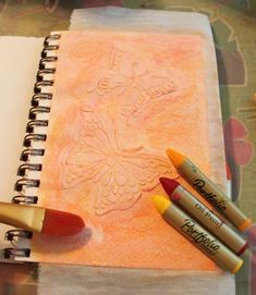 Using gesso with stencils is a really fun technique with neat results for journal pages. For my first page I painted it with with water soluble oil pastels. Yes, you read me right – water soluble oil pastels! First thing … Continue reading →