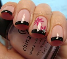 Funky french manicure.