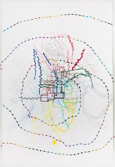 """Pam Saturday, Works on Paper 2012, mixed media on paper, 30x44"""""""