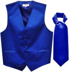 New Men's Tuxedo Vest Waistcoat Pre Tied Bowtie Royal Blue Wedding Prom Azul Royal, Royal Blue, White Tuxedo Wedding, Prom Tuxedo, Wedding Suits, Wedding Tuxedos, Wedding Waistcoats, Field Wedding, Wedding Attire