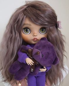 Ooak Dolls, Blythe Dolls, Art Dolls, Pretty Dolls, Beautiful Dolls, Clothes Crafts, Doll Clothes, Kawaii Doll, Chibi Girl
