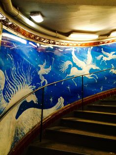 Subway Stairway, Wall Art, Paris, France