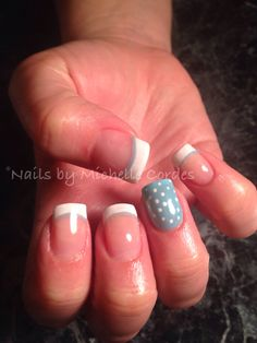 Shellac over acrylic nails- nails by Michelle Cordes