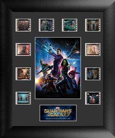 Guardians of the Galaxy Ten Clip FilmCell Framed Memorabilia