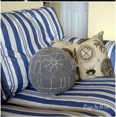 Transform your living room couch into an imperial space port with this planet-destroying Star Wars crochet Death Star pillow! This terrifying imperial weapon has been recreated as an adorable, yet awe-inspiring and fully operational couch pillow. This crochet pattern makes a Death Star