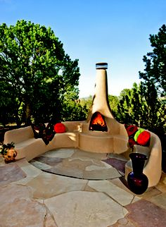 A fantastic outdoor patio with a New Mexico view – created by Vineyard Homes