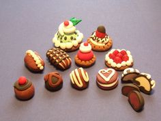 polymer clay | Polymer Clay deserts no they ain't real.