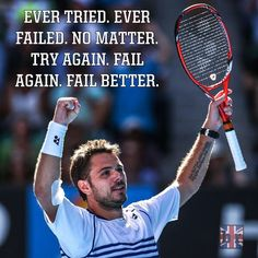 [Image] That's what the tattoo of 2x Grand Slam champion Stan Wawrinka says (Quote from Samuel Beckett) - Imgur