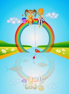 Картинки по запросу радуга и дети