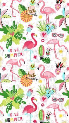 Flamingo Wallpaper, Flamingo Art, Pink Wallpaper, Screen Wallpaper, Pink Flamingos, Pattern Wallpaper, Wallpaper Backgrounds, Iphone Backgrounds, Flower Wallpaper