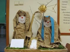 kleuters knutselen rond kerst