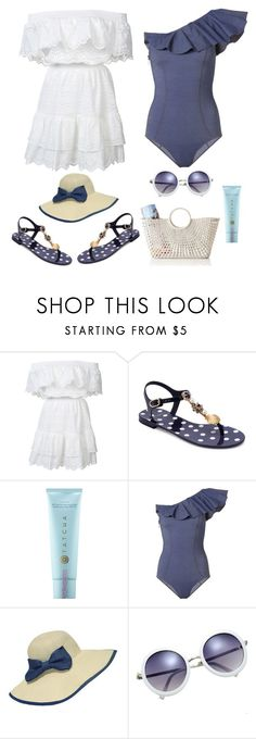 """Beach Days 2"" by musicmarshmellow77 ❤ liked on Polyvore featuring LoveShackFancy, Dolce&Gabbana, Tatcha, Lisa Marie Fernandez, WithChic and Mark & Graham"