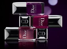 Dior Les Violets Hypnotiques nail polishes in Shadow, Orchid and Poison