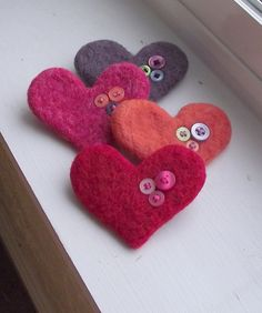 Love button brooch. Perfect shape, mine always turn out a bit wonky!