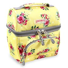 The Corey lunchbag is sure to hold your lunch and keep it just the way you like it. A stylish floral yellow design makes this lunch tote both functional and fashionable. Dimensions: 8.8 inches x 7.8.