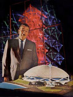 Walt Disney & the Disney-designed General Electric Pavillion for the 1964 New York World's Fair.