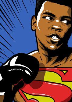 """Muhammad Ali-Haj, nascido Cassius Marcellus Clay Jr., foi um pugilista norte-americano, considerado um dos maiores da história do esporte. Foi eleito """"O Desportista do Século"""" pela revista americana Sports Illustrated em 1999. Wikipédia Nascimento: 17 de janeiro de 1942, Louisville, Kentucky, EUA Falecimento: 3 de junho de 2016, Scottsdale, Arizona, EUA Arte marcial: Boxe"""