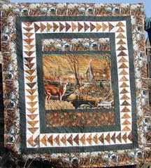 Kits and More -quilts with panels Quilting Projects, Quilting Designs, Quilt Design, Quilt Block Patterns, Quilt Blocks, Fabric Panel Quilts, Fabric Panels, Wildlife Quilts, Quilt Border