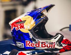 Dirt Bike Helmets, Dirt Bike Gear, Dirtbikes, Bike Life, Bmx, Red Bull, Inspiration, Style, Custom Helmets