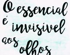 Quadro O essencial é invisível aos olhos