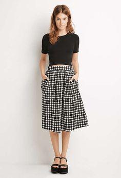 Forever 21   Polka Dot A-Line Skirt #Forever21 #polkadot #skirt