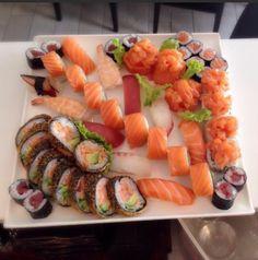 Sushi rolls, nigiri