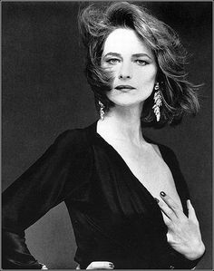Charlotte Rampling photographed by Bettina Rheims in Paris, September 1985.