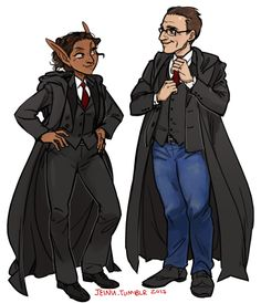 Lup & Barry as Reapers (in the timeline where they don't intentionally screw everything up for Kravitz, including the dress code)