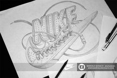 Marcelo recreated the Nike logo in this design he added a highly ...