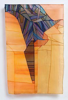 Leonie Castelino | Fabulous contemporary Bojagi scultpures, made with organza.  Beautiful!