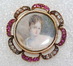 I would have quessed a brouch, but  it is  a Button! Made in Frence with rubies and diamonds, circa 1820..