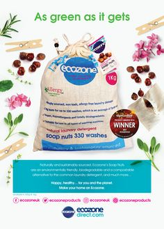 Sensitive skin?  In light of #AllergyAwarenessWeek 2017 we recommend using our award winning 100% organic & natural Soap Nuts in place of your usual laundry detergents. Ecozone's Soap Nuts are naturally and sustainably sourced and have so many other positive qualities, so get switching over!   Allergy friendly  Hypoallergenic  Biodegradable & Compostable  Vegan  Cruelty-free  Non-toxic & Non-polluting  Reusable   Bleach & Paraben-free  Safe for septic tanks  Ecozone's Soap Nuts are…