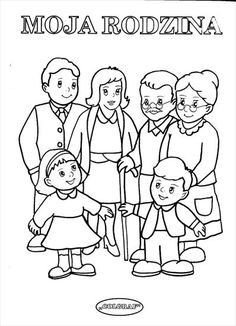 rodzina2 Preschool Education, Kindergarten Class, Preschool At Home, Preschool Worksheets, Body Parts Preschool, Coloring Books, Coloring Pages, Family Drawing, Human Drawing