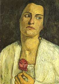 portrait of Clara Rilke by Paula Modersohn-Becker