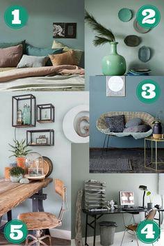 Wooninspiratie: kleurinspiratie op de muur - Early Dew van Flexa en andere grijzige groentinten - interieur - Wendy's Wondere Wereld blog