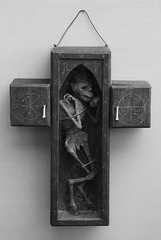 Jacob Petersson - The Faustian Cross. The physical manifestation of a lesser daemon, bound in a wooden cross. 2009