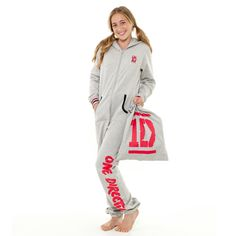 One+Direction+-+One+Direction+Grey+and+Red+Heavyweight+Onesie