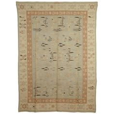 For Sale on - The kilims known as 'Bessarabian' were woven in the Russian regions of Ukraine and Moldovia. Intended to satisfy the demands of the Russian aristocracy Urban Workshop, Rugs On Carpet, Carpets, Rug Hooking, Woven Rug, Kilim Rugs, Brown And Grey, Vintage Rugs, Hand Weaving