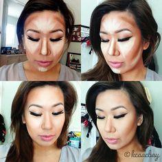 Makeup tutorial for contouring & highlighting