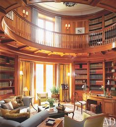 architectural-digest-round-home-library