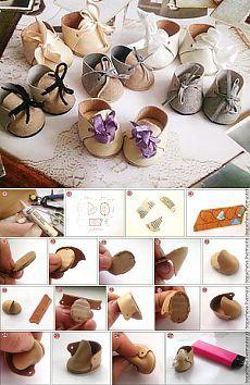 Делаем миниатюрные ботиночки для кукол
