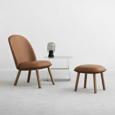 Ace footstool and lounge chair