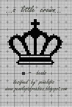 Penelopis' cross stitch freebies: crown/korona