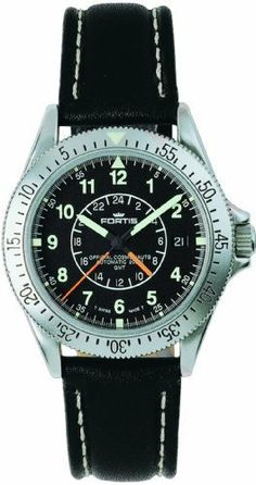 Fortis Men's 611.22.11 L.01 Official Cosmonauts Automatic GMT Watch Fortis. $1003.75. Dual-time-display. Water-resistant to 660 feet (200 M). Stainless-steel case; 38 mm. Swiss Automatic movement. Antireflective-sapphire crystal. Save 45%!