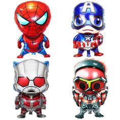 1 Pcs Super Hero Foil Balloons Captain America Cartoon Toy for Kids Boys Birthday Party Decorations #Affiliate