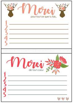 Thanksgiving - Reconnaissance - Merci - Remerciement - A imprimer - Blog blogger - Printable Thanksgiving, Blog, Playing Cards, French Cafe, Printable, Two Sisters, November Month, Gratitude, Organization