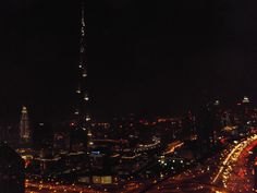 Traffic on New Year's Eve #Downtown #Dubai, 12.00am January 1, #2013